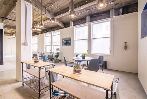 A flexible coworking space in San Francisco